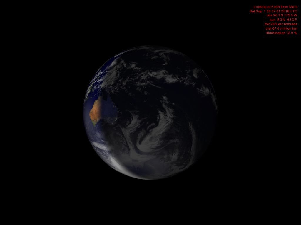 earth from mars - HD 1024×768