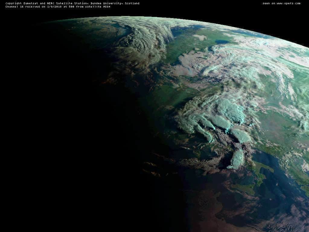 6 hour refresh: Satellite Picture of Europe (Meteosat)